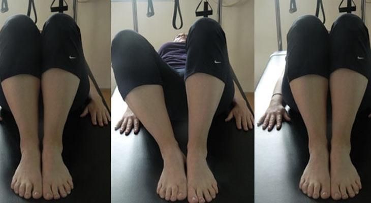 תרגיל פילאטיס knee open